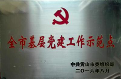 黄山市基层党建工作示范点  2016年11月